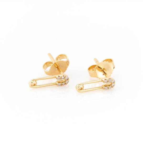 Petite Safety Pin Studs-Earrings-Zofia Day Co.