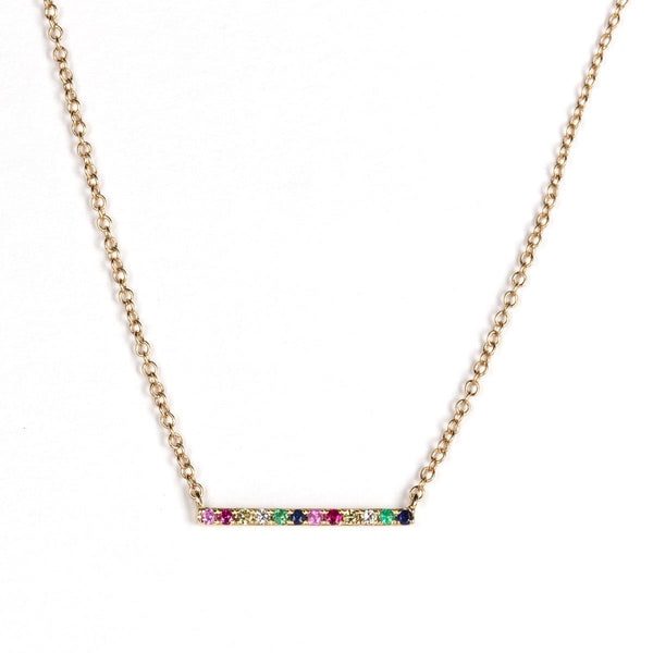 Rainbow Bar Necklace-Necklaces-Zofia Day Co.