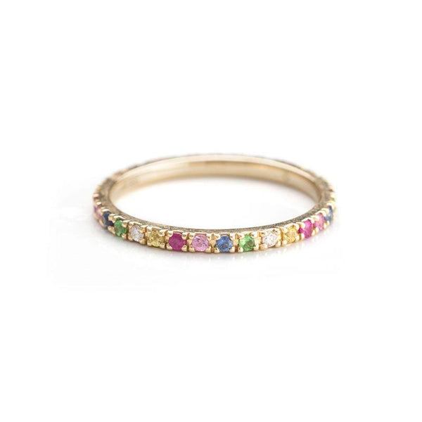 Rainbow Eternity Band-Rings-Zofia Day Co.