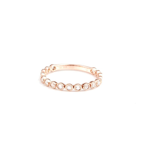 Rose Cut Diamond Band-Rings-Zofia Day Co.