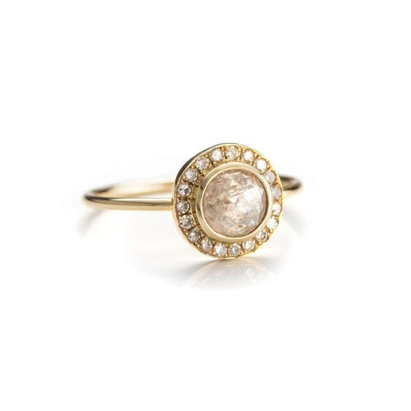 Rose Cut Halo Ring-Rings-Zofia Day Co.