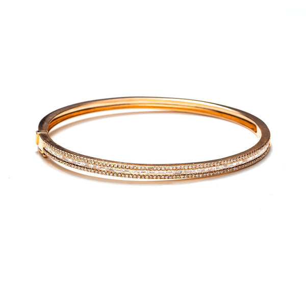 Sia Baguette Bangle-Bracelets-Zofia Day Co.