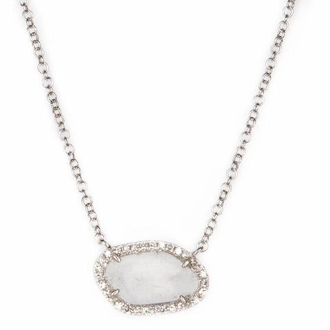 Single Slice Diamond Necklace-Necklaces-Zofia Day Co.