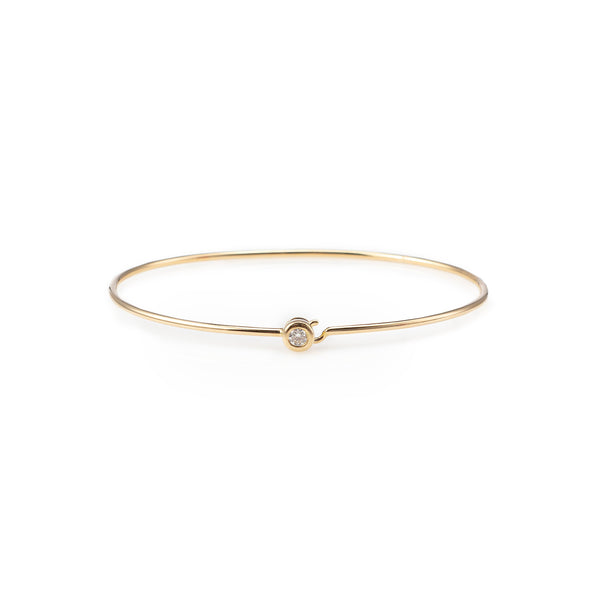 Single Stone Latch Bangle-Zofia Day Co.