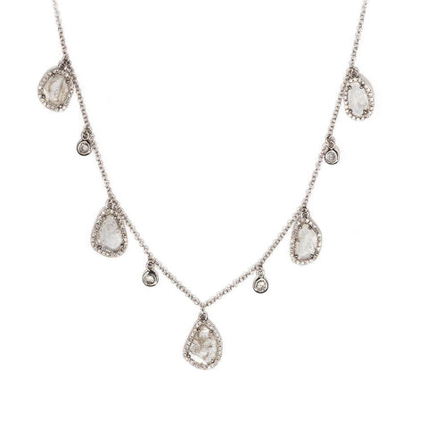 Slice Diamond Dangle Necklace-Necklaces-Zofia Day Co.