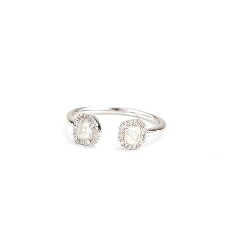Slice Diamond Open Hook Ring-Rings-Zofia Day Co.
