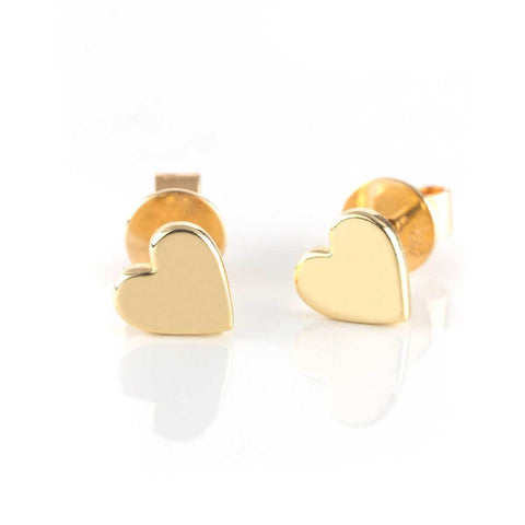 Solid Gold Love Studs-Earrings-Zofia Day Co.