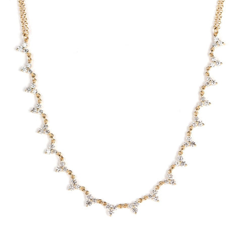 Tiara Necklace-Necklaces-Zofia Day Co.