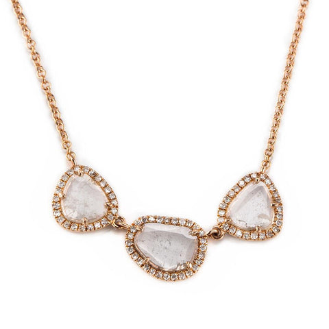 Tre Slice Diamond Necklace-Necklaces-Zofia Day Co.