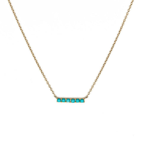 Turquoise Bar Necklace-Necklaces-Zofia Day Co.