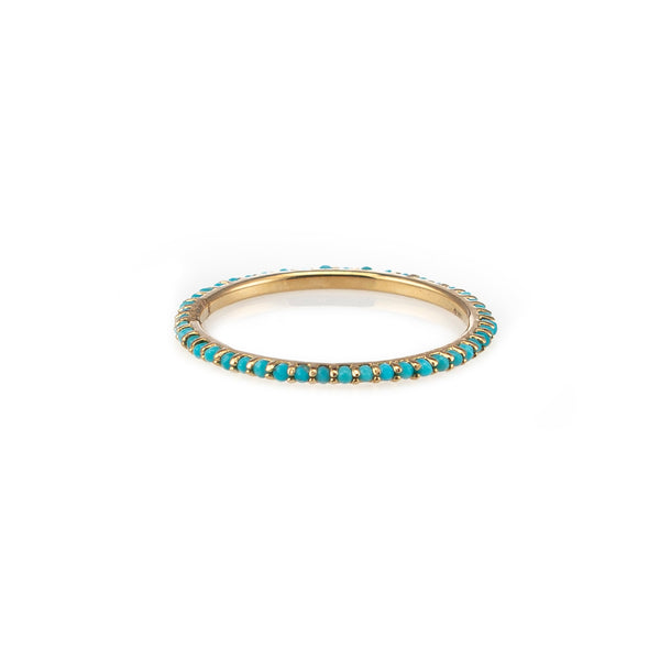 Turquoise Eternity Band-Rings-Zofia Day Co.