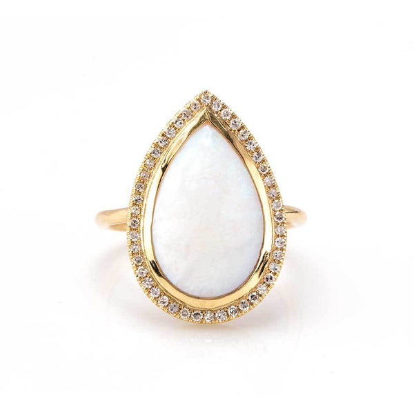 Vienna Opal Ring-Rings-Zofia Day Co.