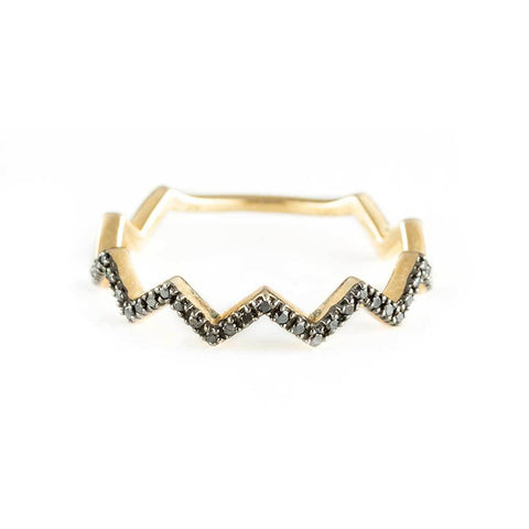 Zig Zag Ring-Rings-Zofia Day Co.