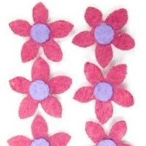 Hot Pink Flower Extra Mighty Magnets - 6 Mighty Magnets per package