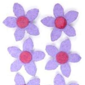 Purple Flower Extra Mighty Magnets - 6 Mighty Magnets per package