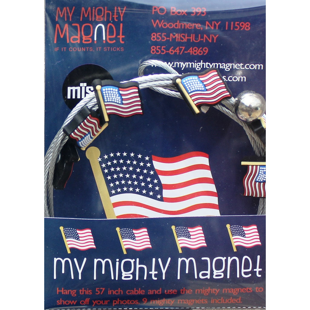USA Flag My Mighty Magnet System - The simple and creative way to display pictures, cards or whatever matters to you using super strong Mighty Magnets.