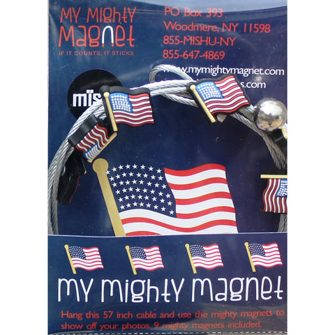 Image of USA Flag My Mighty Magnet System - The simple and creative way to display pictures, cards or whatever matters to you using super strong Mighty Magnets.