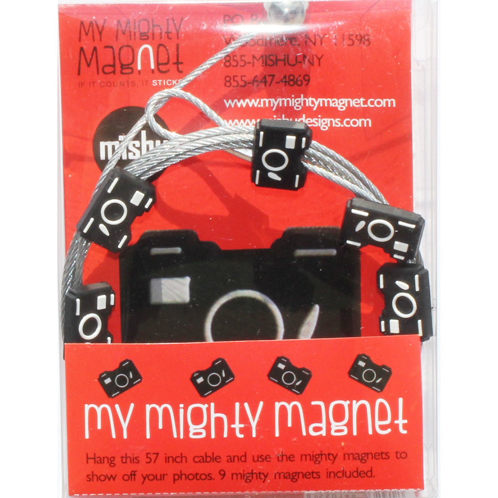 Black Camera My Mighty Magnet System - The simple and creative way to display pictures, cards or whatever matters to you using super strong Mighty Magnets.