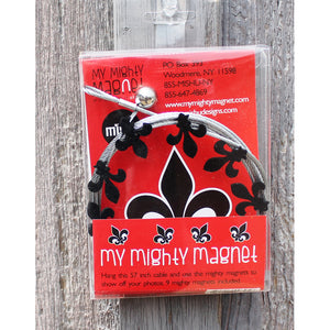Fleur De Lis My Mighty Magnet System - The simple and creative way to display pictures, cards or whatever matters to you using super strong Mighty Magnets.
