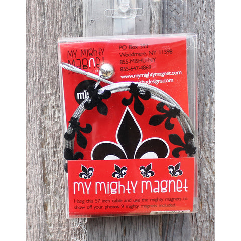 Image of Fleur De Lis My Mighty Magnet System - The simple and creative way to display pictures, cards or whatever matters to you using super strong Mighty Magnets.