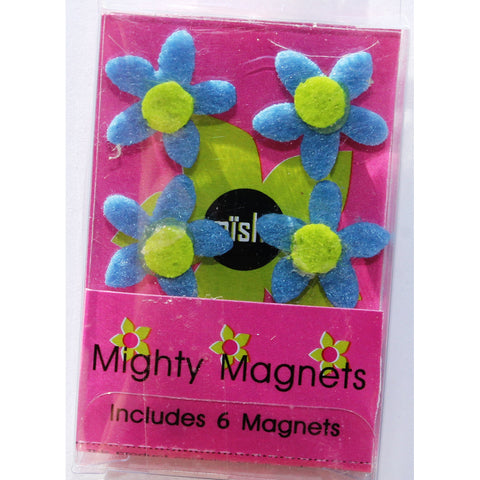 Blue Flower Extra Mighty Magnets - 6 Mighty Magnets per package
