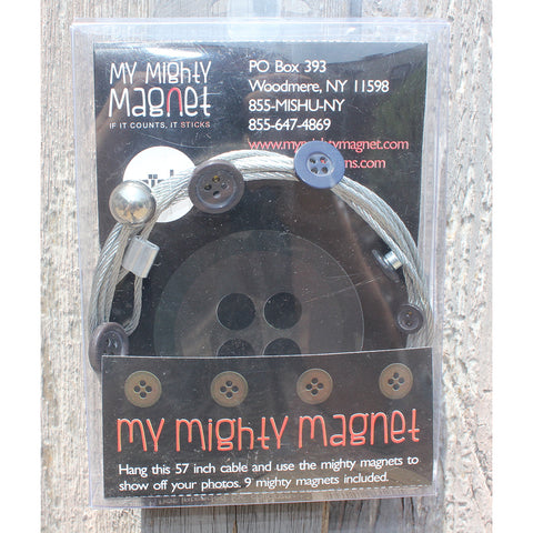 Buttons  - My Mighty Magnet System - The simple and creative way to display pictures, cards or whatever matters to you using super strong Mighty Magnets.