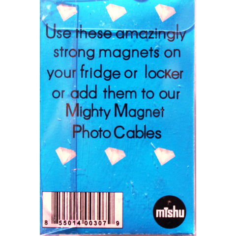 Clear Gem Extra Mighty Magnets - 6 Mighty Magnets per package
