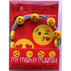 Emoji - 2 Style Kissie Mix -  My Mighty Magnet System - The simple and creative way to display pictures, cards or whatever matters to you using super strong Mighty Magnets.