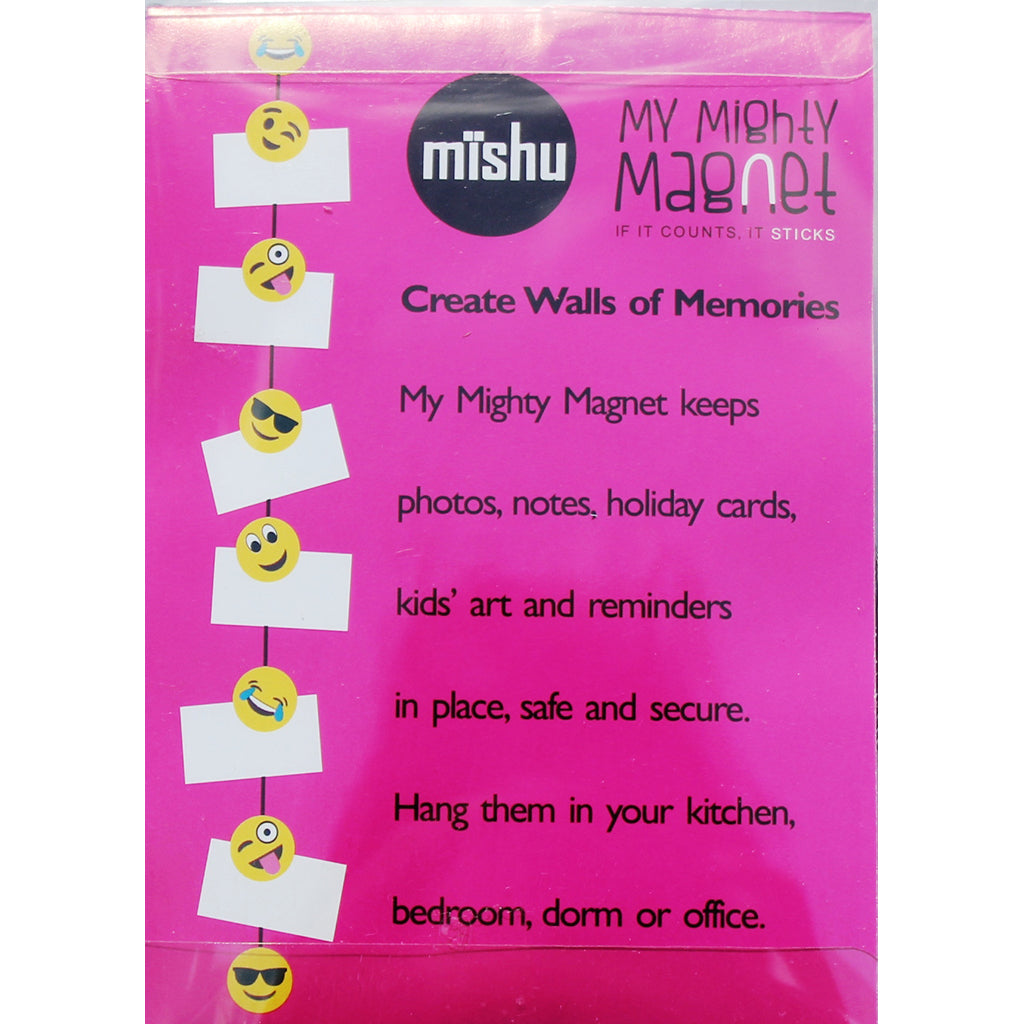 Emoji - 5 Style Yellow Mix -  My Mighty Magnet System - The simple and creative way to display pictures, cards or whatever matters to you using super strong Mighty Magnets.