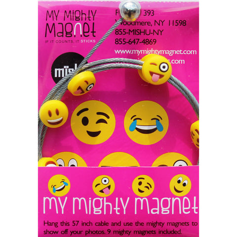 Image of Emoji - 5 Style Yellow Mix -  My Mighty Magnet System - The simple and creative way to display pictures, cards or whatever matters to you using super strong Mighty Magnets.
