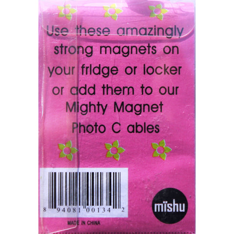 Green Flower Extra Mighty Magnets - 6 Mighty Magnets per package
