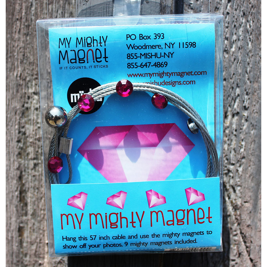 Hot Pink Gem My Mighty Magnet System - The simple and creative way to display pictures, cards or whatever matters to you using super strong Mighty Magnets.