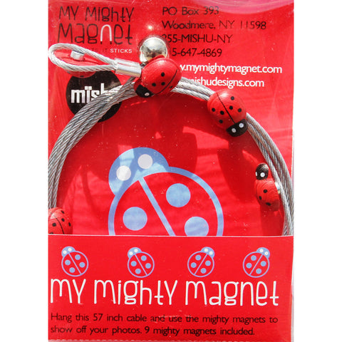Image of Ladybug My Mighty Magnet System - The simple and creative way to display pictures, cards or whatever matters to you using super strong Mighty Magnets.