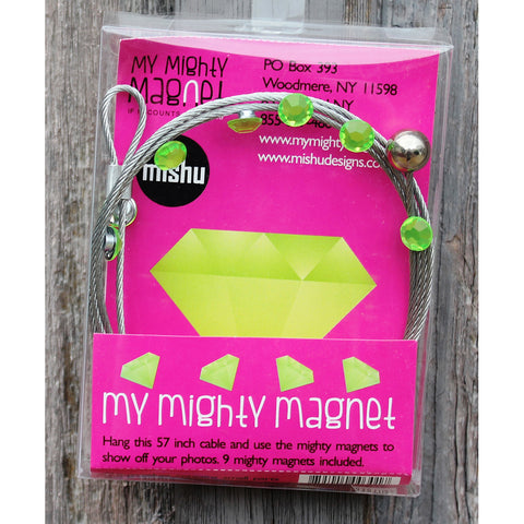 Image of Green Gem My Mighty Magnet System - The simple and creative way to display pictures, cards or whatever matters to you using super strong Mighty Magnets.