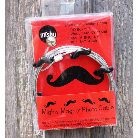 Mustache My Mighty Magnet System - The simple and creative way to display pictures, cards or whatever matters to you using super strong Mighty Magnets.