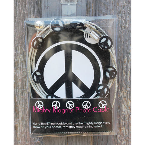 Image of Peace Sign - My Mighty Magnet System - The simple and creative way to display pictures, cards or whatever matters to you using super strong Mighty Magnets.