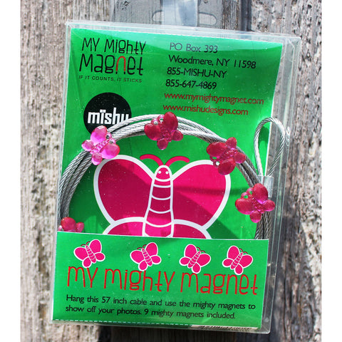 Image of Pink Butterfly My Mighty Magnet System - The simple and creative way to display pictures, cards or whatever matters to you using super strong Mighty Magnets.
