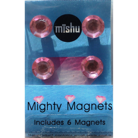 Light Pink Gem Extra Mighty Magnets - 6 Mighty Magnets per package