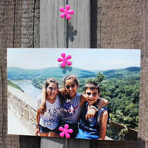 Image of Pink Hippy Flower My Mighty Magnet System - The simple and creative way to display pictures, cards or whatever matters to you using super strong Mighty Magnets.