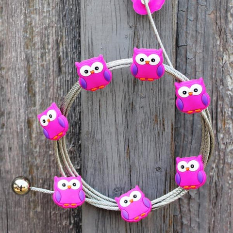 Image of Pink Owl My Mighty Magnet System - The simple and creative way to display pictures, cards or whatever matters to you using super strong Mighty Magnets.