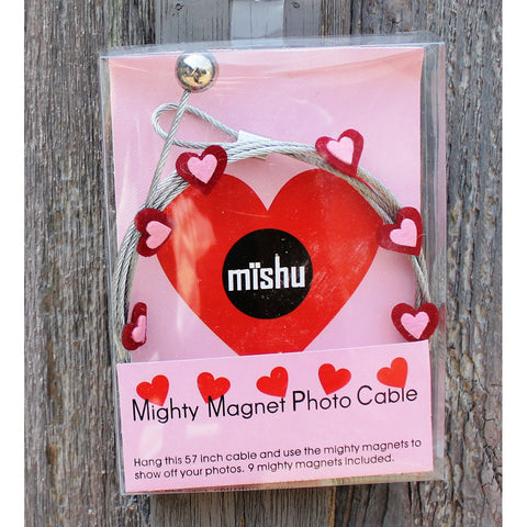 Image of Red Heart My Mighty Magnet System - The simple and creative way to display pictures, cards or whatever matters to you using super strong Mighty Magnets.