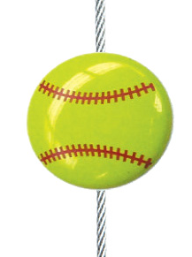 Softball - The simple and creative way to display pictures, cards or whatever matters to you using super strong Mighty Magnets.