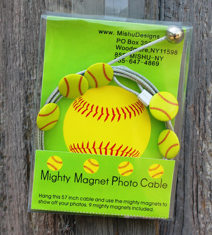Softball The Simple And Creative Way To Display Pictures Cards Or Whatever Matters To You Using Super Strong Mighty Magnets