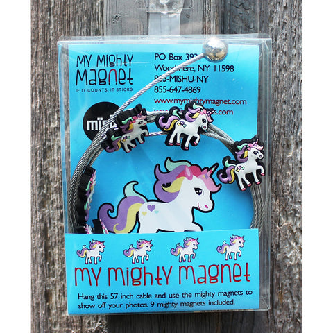 Image of Unicorn My Mighty Magnet System - The simple and creative way to display pictures, cards or whatever matters to you using super strong Mighty Magnets.