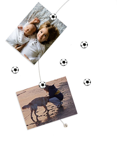 Image of Soccer - The simple and creative way to display pictures, cards or whatever matters to you using super strong Mighty Magnets.