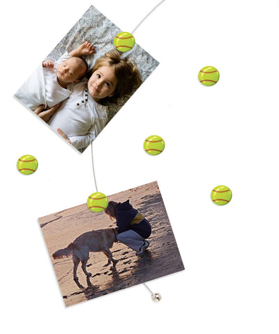 Image of Softball - The simple and creative way to display pictures, cards or whatever matters to you using super strong Mighty Magnets.