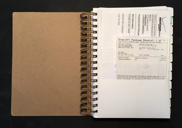 UPstudio Planner has a double sided folder!