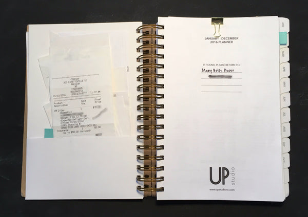 UPstudio Planner has a double sided folder