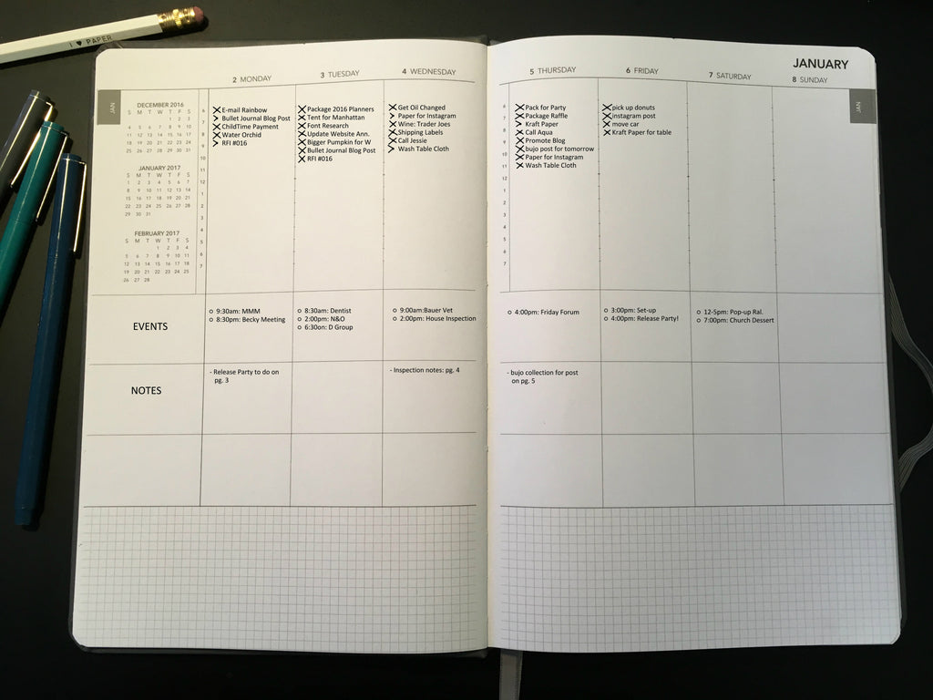 Bullet Journal Rappid Logging and Migration with 2017 UPstudio Planner
