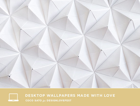Desktop Wallpaper made by Coco Sato for DESIGNLOVEFEST